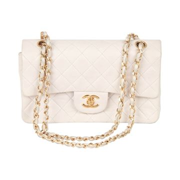 Chanel 1990s White Quilted Leather Handbag