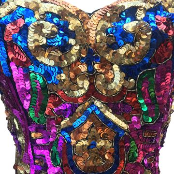 Julie Duroche for Saks of Fifth Avenue 1980s Sequin Bustier Top
