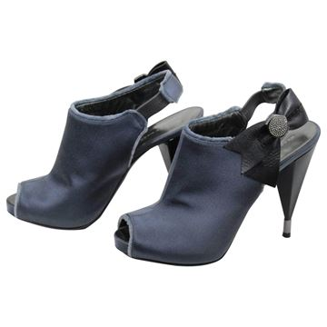 Marc Jacobs Silk and Leather Ribbon High Heel Shoes