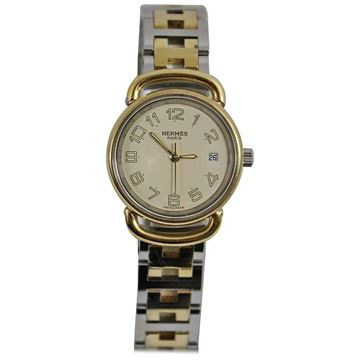 Hermes Gold Plated Steel Pullman Watch