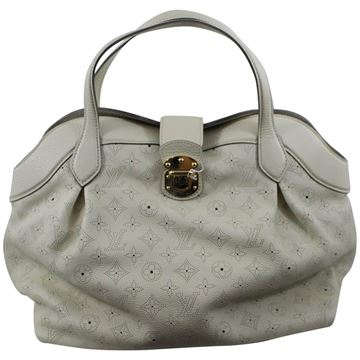 Louis Vuitton Grey Mahina Cirrus MM Handbag