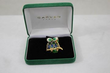 Carven Gold Plated Owl Brooch