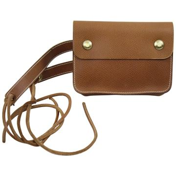 Hermes 1974 Brown Grained Leather Waist Bag