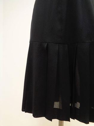 Chanel Boutique 1980s Pleated Black Skirt