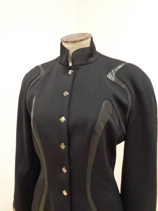 Thierry Mugler Trademark 1980s Black Jacket
