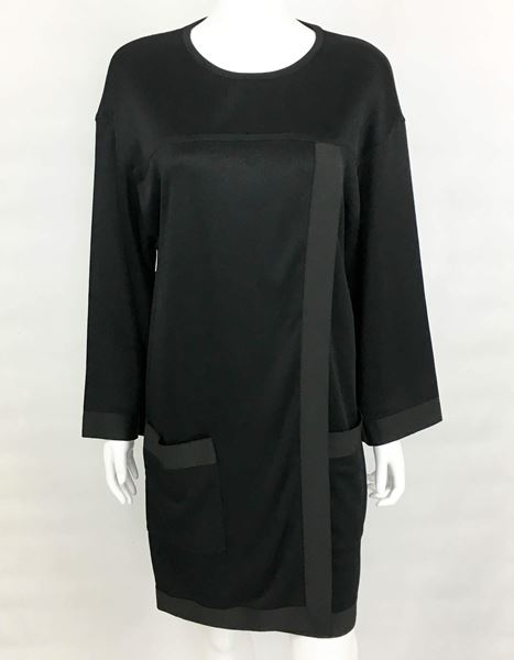 Chanel Black Jumper Dress - 1990's