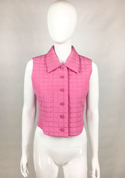 Chanel Quilted Pink Silk Gilet