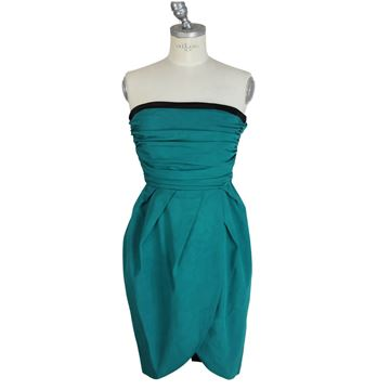 Christian Dior 2 1980s Emerald Green Sheath Dress