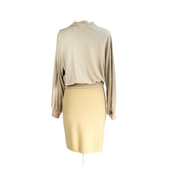 Gianfranco Ferre 1980s Metallic Top and Skirt Set
