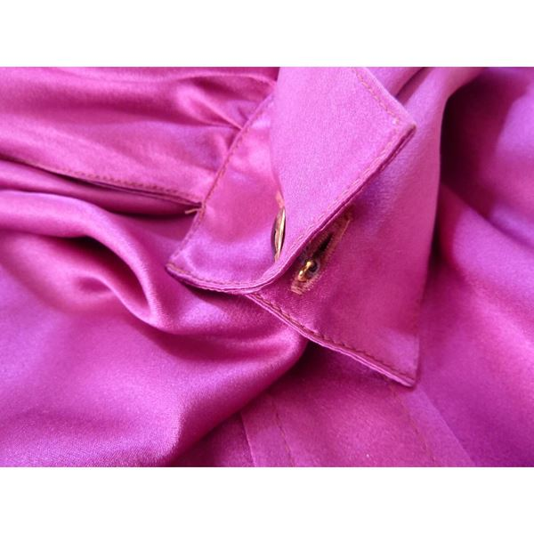 Thierry Mugler 1990s Batwing Purple Pussy Bow Blouse