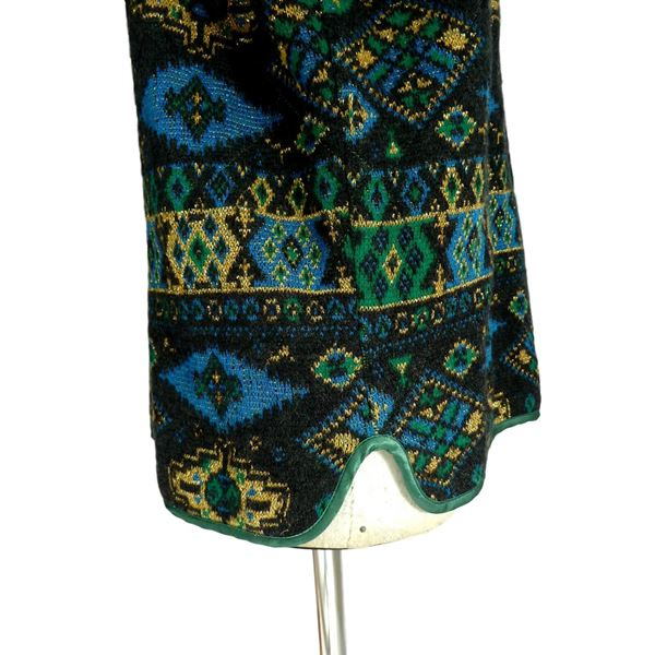 Mondrian 1980s Tapestry Style Knitted Multicoloured Jacket