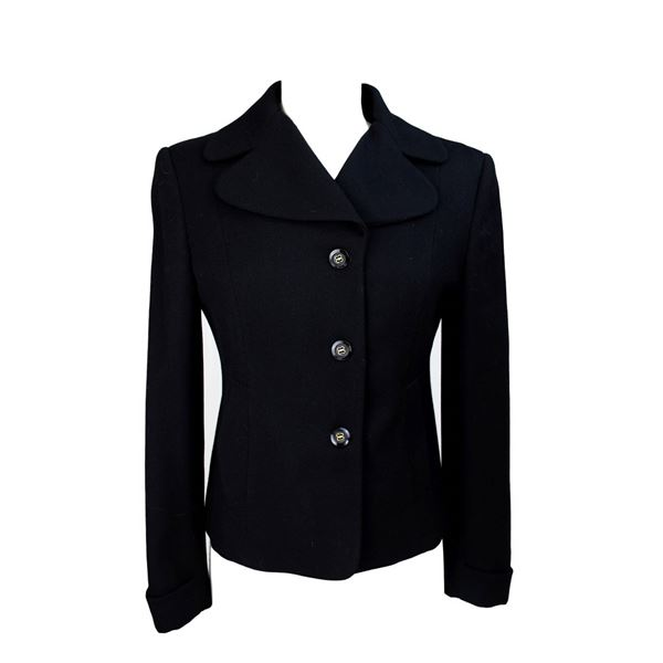 Oliver by Valentino 1980s Double Breasted Black Jacket