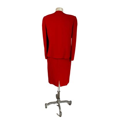 Egon Von Furstenberg 1980s Red Skirt Suit