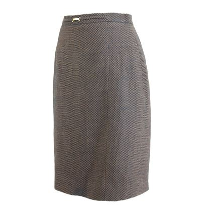 Escada 1980s Brown Pencil Skirt