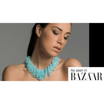 Poured Glass Opaline Cascade Collar Necklace