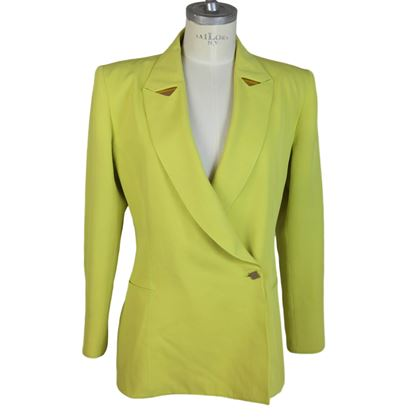 Claude Montana Paris 1980s Yellow Blazer Jacket