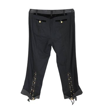 roberto-cavalli-black-silk-leather-pants-womens-size-44-trousers