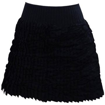 Dsquared2 1990s Pleated Black Vintage Mini Skirt