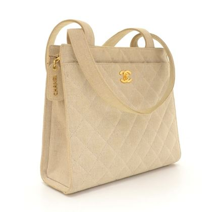 chanel-beige-quilted-canvas-tote-shoulder-hand-bag