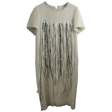 Chanel White Wool Dress and Fringe Dress