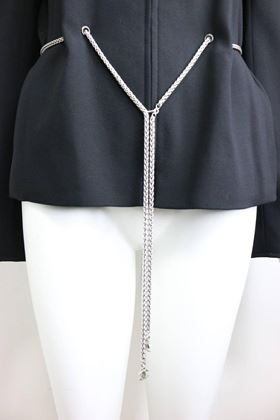 chanel-black-wool-waist-chain-collarless-jacket