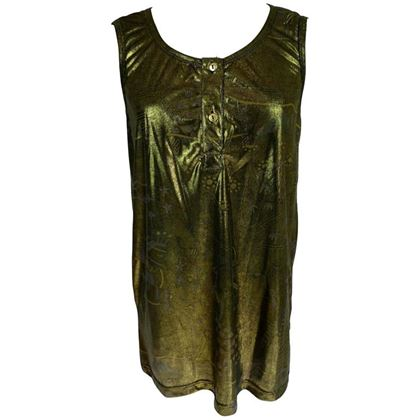Emilio Pucci 1980s Gold Sleeveless Blouse