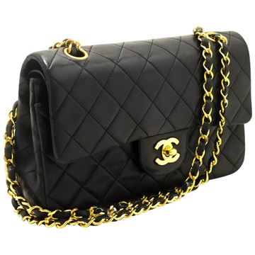 "Chanel 1990s Quilted Leather 2.55 9"" Double Flap Bag"