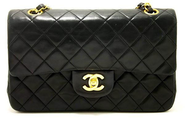 """Chanel 1990s Quilted Leather 2.55 9"""" Double Flap Bag"""