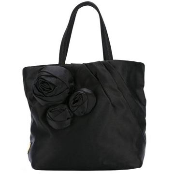 Black Prada Satin Black Evening Tote Bag