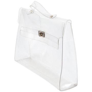 Hermes 1990s Transparent Kelly Shaped Plastic Bag