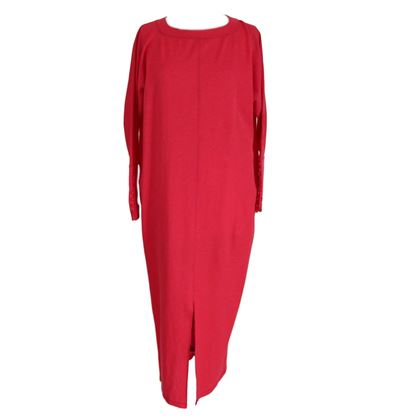 Picture of Gianfranco Ferre 1980s Long Red Tunic Dress