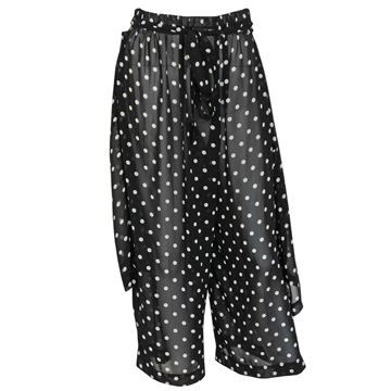 Comme des Garcons 1980s to 1990s Polka Dot Apron Overlay Black Trousers