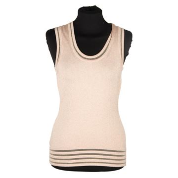 Missoni Lurex Champagne Light Weight Knit Sleeveless Top