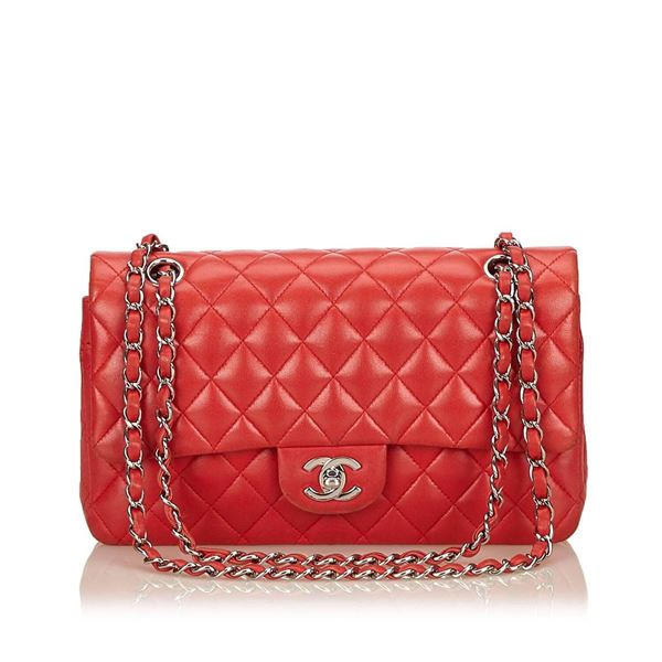 chanel-classic-medium-red-lambskin-leather-double-flap-bag