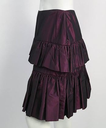 80s-galanos-couture-purple-taffeta-tiered-skirt