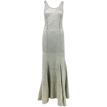Missoni Grey Cashmere and Silver Lurex Gown - 2000's