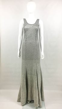 Missoni Grey Cashmere and Silver Lurex Gown