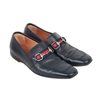 Gucci Horsebit Blue Leather Loafers