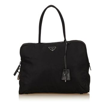 Prada Zip Top Black Nylon Handbag