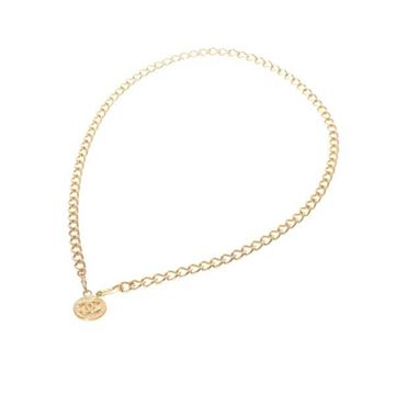 Chanel Gold Tone Chain CC Logo Belt