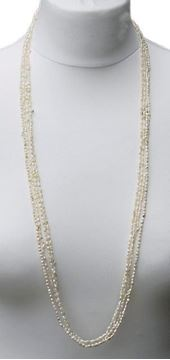 Vintage 1970s Baroque Ivory Rice Pearl Necklaces