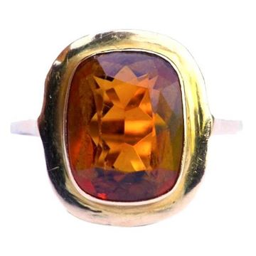 Vintage 1950s 18ct Gold Citrine Ring