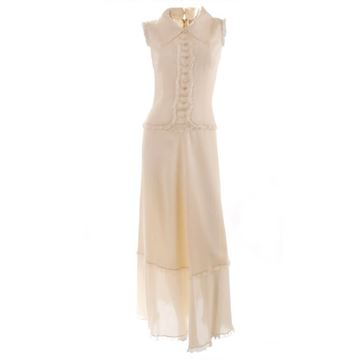 Chloe 1980s Ivory Silk Maxi Dress with Jacket