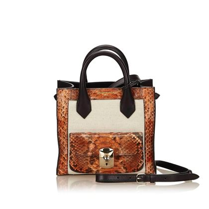 balenziaga-black-and-brown-python-mini-padlock-all-afternoon-shoulder-bag