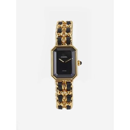 chanel-black-leather-gold-plated-watch