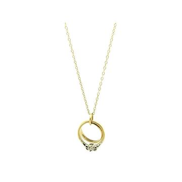 Vintage 1960s Wedding Rings 9ct Gold Charm Necklace