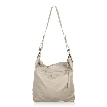 balenciaga-gray-leather-arena-classic-day-shoulder-bag