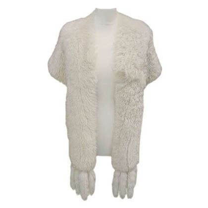 Vintage 1950s White Fox Fur Cape