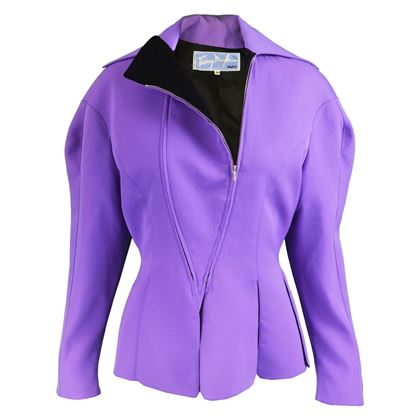 Thierry Mugler 1980s Sculptural Purple Vintage Jacket