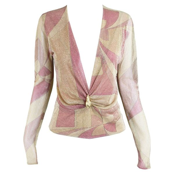 Tom Ford for Gucci 2000 Gold & Pink Lurex Blouse